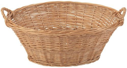 Large Oval Wicker Laundry Basket