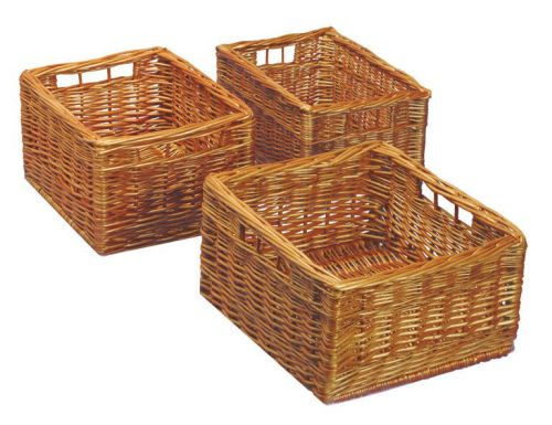 Storage baskets for linen closet