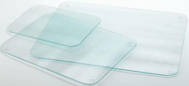 Clear glass worktop saver for Glass table placemats