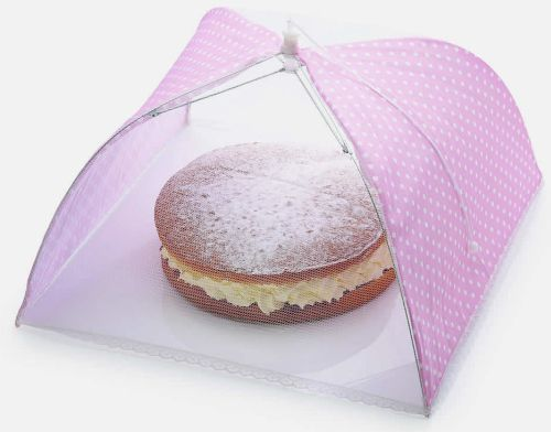 Strawberry Umbrella Food Cover 30 x 30cm | Food Umbrella Mesh Food