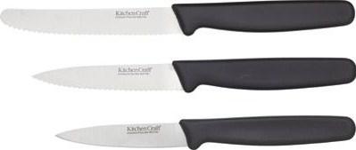 Kitchen craft stainless steel three piece knife starter set for Kitchen craft knife set