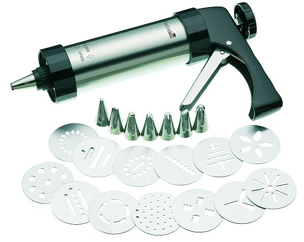 Best Cake Decorating Gun : Deluxe Biscuit & Icing Set with 8 Nozzles & 13 Cutters