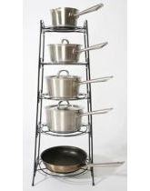 Black and Chrome Saucepan Stand