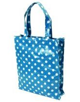 Blue Polka PVC Shopping Bag