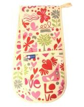 Floral Love Double Oven Gloves