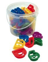 Plastic Alpha-numeric Cookie Cutters