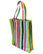 Stripes PVC Shopping Bag