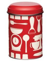 Red Metro Kitchen Storage Tin
