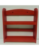 Red Wooden Spice Rack