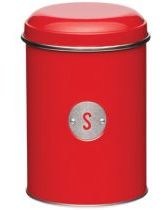 Red Metro Kitchen Sugar Tin