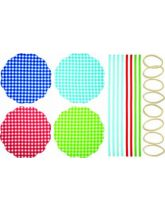 Jam Jar Cover Kit - Gingham
