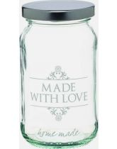 Traditional Glass 'Made With Love' Jar
