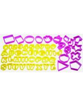 Fifty-Two Piece Plastic Cookie Cutter Set