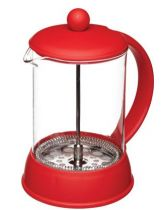 Six Cup Glass Cafetiere with Soft Touch Handle