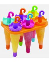 Six Umbrella Lolly Makers With Stand