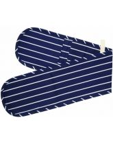 Blue Butcher's Stripe Double Oven Glove
