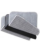 Black Stripe Scrubby Dishcloths x 3