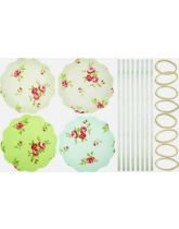 Jam Jar Cover Kit - Vintage Floral Pattern