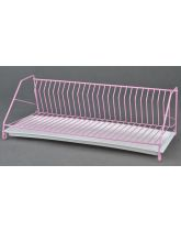 Pink Single Level Dish Drainer