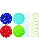 Jam Jar Cover Kit - Polka Dot Pattern