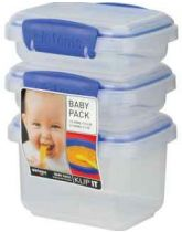 Sistema Baby Food Containers x 3