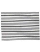 Traditional Tea Towel - Black and Grey Stripe