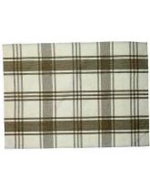 Traditional Tea Towel - Large Brown Check