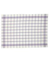 Traditional Tea Towel - Small Purple Check