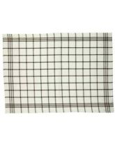 Traditional Tea Towel - Small Brown Check