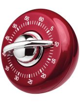 Red and Chrome Mechanical Timer