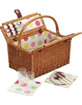 Coolmovers Sherbet Two Person Fitted Picnic Basket