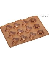 "Lock In ""Nuts and Bolts"" Silicone Flexible Ice Cube Tray"
