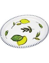 Ceramic Oval Shaped Serving Platter