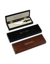 San Kyoto Tamahagane Brown Wooden Knife Case