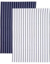 Kitchen Craft Butchers Stripe Set of 2 Tea Towels