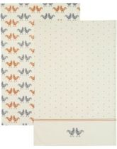 Kitchen Craft Hen Set of 2 Tea Towels
