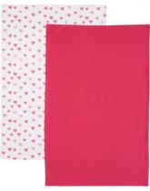 Kitchen Craft Hearts Set of 2 Tea Towels