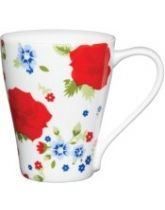 Kitchen Craft Fine Bone China Blue & Red Floral Mug