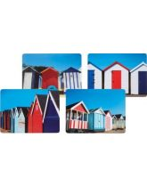 Kitchen Craft Beach Hut Cork Back Laminated Set of 4 Placemats