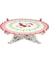 Santa & Friends Fold Up Card Cake Stand