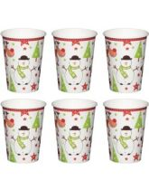 Santa & Friends 270ml Paper Cups