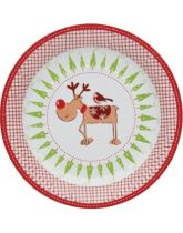 Santa & Friends Pack of 12 Paper Plates - 23cm