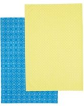 Kitchen Craft Set of 2 Tile Patterned Tea Towels