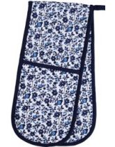 Kitchen Craft Traditional Blue Double Oven Glove