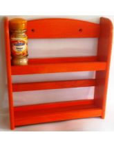 Orange Wall Mounted 2 Tier Spice Rack