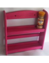 Bright Pink Wall Mounted 2 Tier Spice Rack