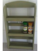 Sage Green Wall Mounted 3 Tier Spice Rack