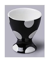 Black Dotty Ceramic Single Egg Cup