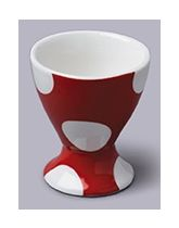 Red Dotty Ceramic Single Egg Cup