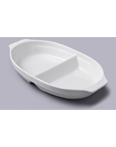Large Two Part Vegetable Serving Dish